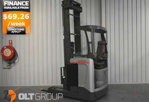 Nissan High Lift Electric Reach Truck 7.95m Mast 1600kg Capacity 2013 Model Low Hours