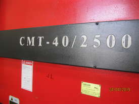CMT 2500 x 40 Ton Hydraulic Pressbrake - picture2' - Click to enlarge