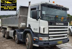 2000 Scania Twin Steer Alloy Tipper.  TS457