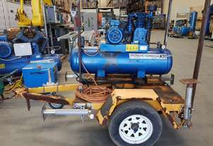 PARTS FOR COMPRESSORS. Wrecking PILOTAIR/PULFORD. AIR TANKS, DRYERS + TRAILER $ 450