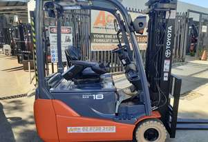 Electric Forklift For sale Toyota 8 Series 2012 Model Container entry 4300mm lift 1800kg capacity