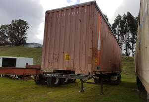 JUMBO HI-CUBE CONTAINER ON TRAILER