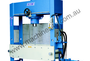 Hydraulic Motor Driven H Frame Press 100 Tonne, Mobile Piston