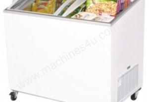 Bromic CF0300ATCG - Angled Glass Top Chest Freezer - 264L