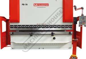 PB-70B Hydraulic NC Pressbrake 70T x 3200mm Estun NC-E21 Control 2-Axis with Hardened Ballscrew Back