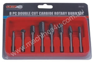 Grip BURR SET 8 PIECE 1/4 SHANK