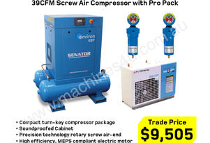 39CFM Electric Screw Air Compressor 10HP 415V PP