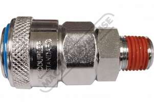 Male Coupling High-Flow One Touch System Air Fittings 1/4