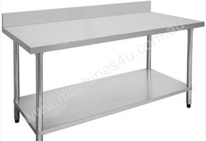 F.E.D. 0900-7-WBB Economic 304 Grade Stainless Steel Table with splashback 900x700x900