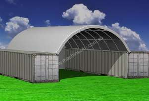12.0m x 12.0m Single Trussed Container Shelter