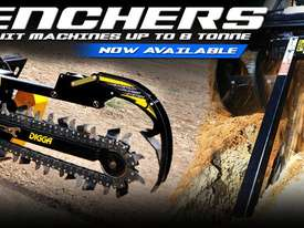 DIGGA TRENCHERS SUIT MINI LOADER SUIT DINGO, VERMEER, KANGA, BOXER Trencher Attachments - picture3' - Click to enlarge