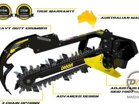 DIGGA TRENCHERS SUIT MINI LOADER SUIT DINGO, VERMEER, KANGA, BOXER Trencher Attachments - picture4' - Click to enlarge