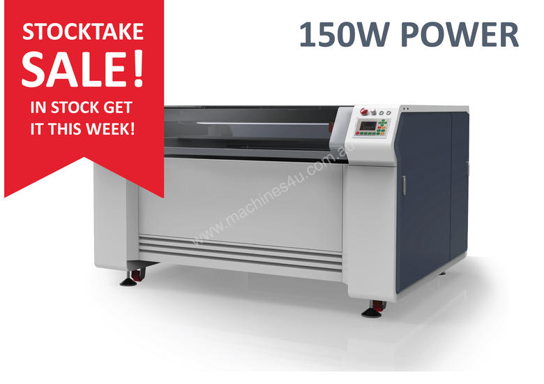 STOCK SALE - 150W -1.3m x 0.9m bed - Laser Cutter/ Engraver - IN STOCK