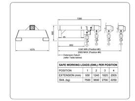 Forklift Jib Zinc Plated Extents to 2 Meters 7500kg Capacity Syd - picture1' - Click to enlarge