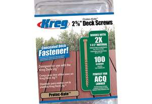 Kreg Deck Screws 2-5/8 Coarse - 100pc