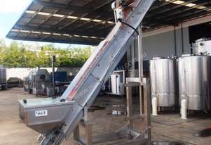 Incline Cleated Belt Conveyor, 3500mm L x 220mm W x 3260mm H