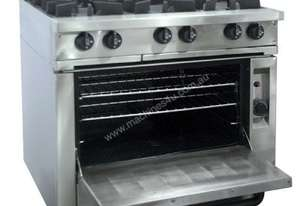 Oxford Series 6BBT-OV Six Burner Cooktop w/Gas Oven