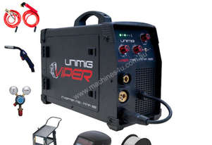 UniMig Viper 182 Gas-Gasless MIG-MMA Inverter Welder Bundle (10amp plug)