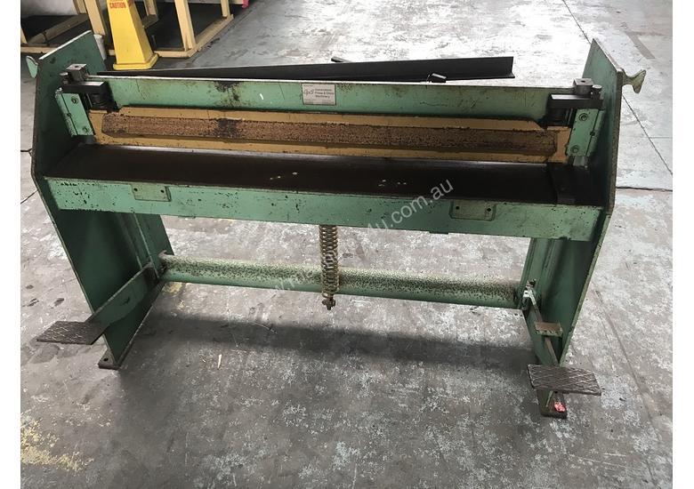 Used Qps Guillotine 1250 X 1 5mm Sheet Metal Cutter 4 Foot