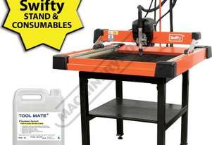 SWIFTY 600 Compact CNC Plasma Cutting Table Package Deal 610 x 610mm Table, Water Tray System, Unimi