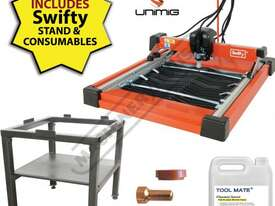 SWIFTY 600 Compact CNC Plasma Cutting Table Package Deal Water Tray System, Unimig Razor Cut 45 Cuts - picture2' - Click to enlarge