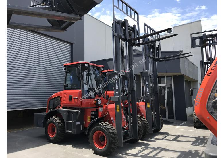 2018 Summit 3 Tonne 4WD Rough Terrain Forklift with 2 Stage 3 Meter Mast