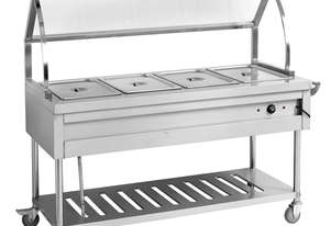 BST5H Heated Five Pan Food Service Cart