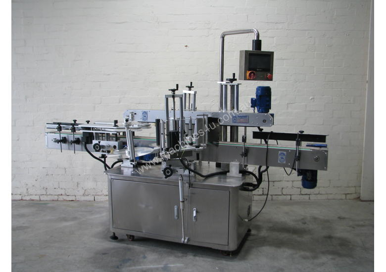 Flamingo Automatic Double Side Square Bottle Label Applicator Labeler