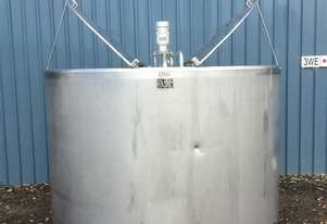 4,000ltr Used Jacketed Stainless Steel Tank, Milk Vat
