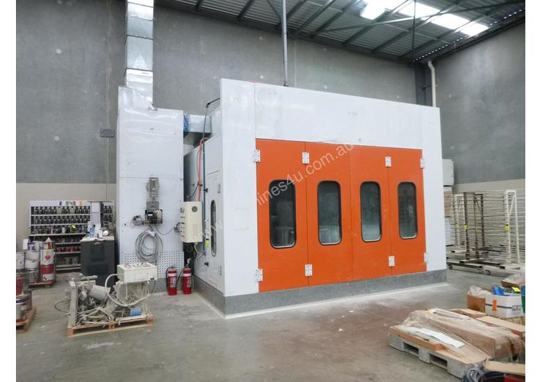 Industrial Pressurised Spray Booth with 3 Sections of Ducting