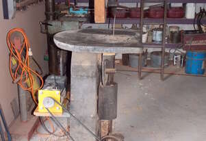 Solid cast Iron floor stand scroll saw.