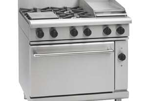 Waldorf 800 Series RNL8613GEC - 900mm Gas Range Electric Convection Oven Low Back Version