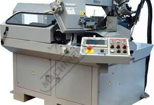 """EB-330FAS NC Swivel Head Metal Cutting Band Saw - Automatic Hitch Feed 7"""" Touch Screen Controller,"""