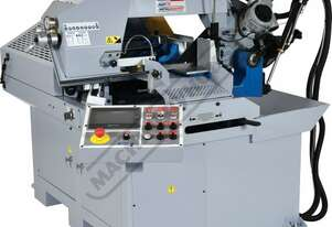 "EB-330FAS NC Swivel Head Metal Cutting Band Saw - Automatic Hitch Feed 7"" Touch Screen Controller,"