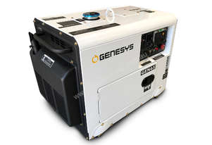 Portable Diesel Generator 6KVA 415V Silenced - 2 Years Warranty