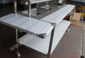 Second Hand Stainless Steel Bench with Bain Marie