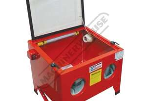 SB-100 Sandblasting Cabinet Inside Cabinet 590 x 500 x 300-360mm (L x W x H) Includes Internal Fluor
