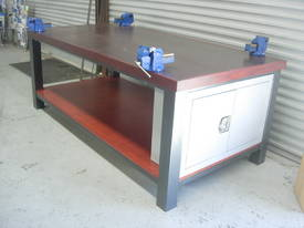 WORK BENCH TIMBER TOP  & VICES - picture0' - Click to enlarge