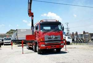2007 HINO 700 SERIES FY 4100 Crane Truck,Table / T