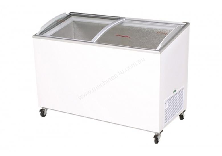 Bromic CF0600ATCG - Angled Glass Top Chest Freezer - 555L