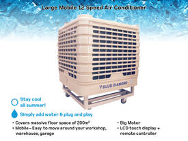 Premium Large Mobile Evaporative Air Conditioner up to 200m2 - Cooler / Shed - picture3' - Click to enlarge