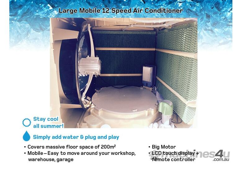 Premium Large Mobile Evaporative Air Conditioner up to 200m2 - Cooler / Shed