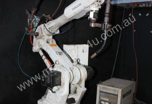 Mig welding robot system with indexing dual statio