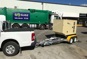 NEW Trailer Mounted Kohler KD66 Diesel Generator with Rollmaxx Aluminium Trailer