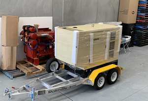 Trailer Mount Kohler KD77 Diesel Generator |Total Wet Weight 2100KG| Rollmaxx Aluminium Trailer