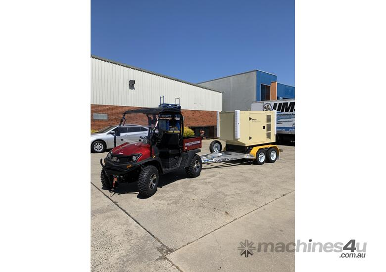 Trailer Mount Kohler KD77 Diesel Generator | Rollmaxx Aluminium Trailer | Total Wet Weight 2100KG |