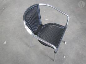 Chair Black Wicka Metal Frame Cafe style x 6