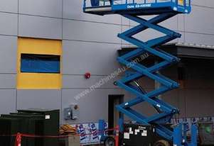 Scissor Lift - 7.9m (26ft) Rough Terrain Genie