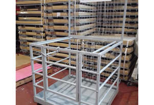 Painted Forklift Safety Cage Free Metro Delivery