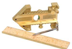 Carbatec 300mm Brass Edge Wooden Rule